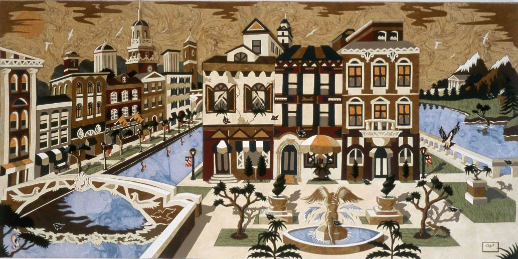 The Venetian Square - 24 x 48 inches - 2001 - Various Fabrics